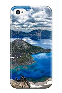 Iphone 4/4s Well Designed Hard Case Cover Crater Lake Oregon Protector
