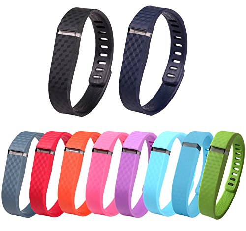 GreenInsync Colorful Replacement Accessory Wrist Bands laser style for Fitbit FLEX (Replacement Bands with Clasps)