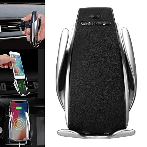 HeFeiQiaoMai Automatic Clamping Wireless Car Charger Mount - Car Charger Holder for iPhone XR XS Max X 8 8 Plus,10W Fast Charging for Samsung All.Infrared Motion