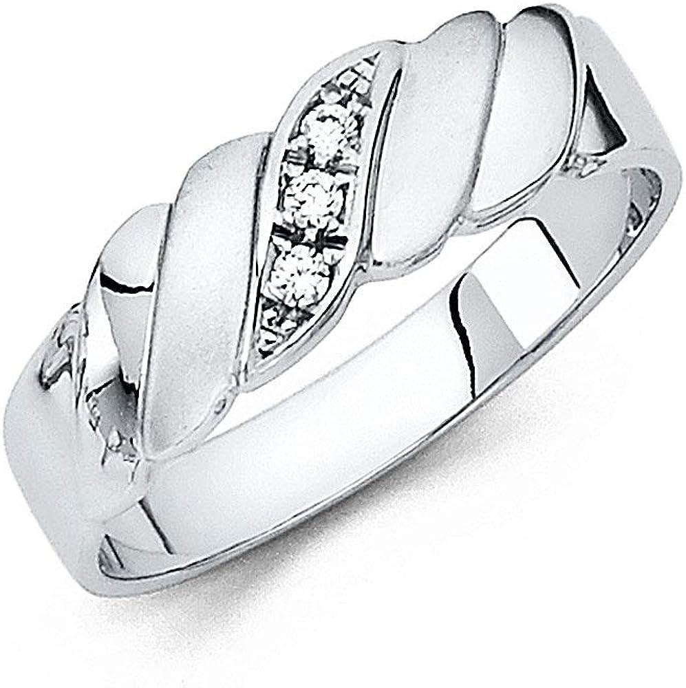 Fashion Jewelry futurepost.co.nz Wellingsale Mens Solid 14k White ...