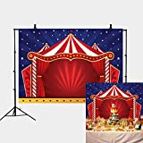 Daniu Circus Tent Photo Backdrop 7X5ft Baby Shower Backdrops for Photography Shinning Star Background for Kids Birthday Party Decorations Photo Booth Studio Props