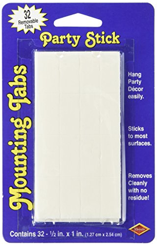 : Party Stick Mounting Tabs Party Accessory (1 count) (32/Pkg)