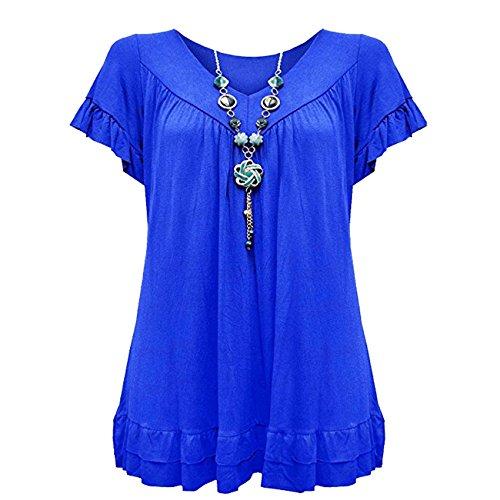 Blue Donna Vanilla Loose Corte Camicia Inc Royal Maniche nxSFAfZ