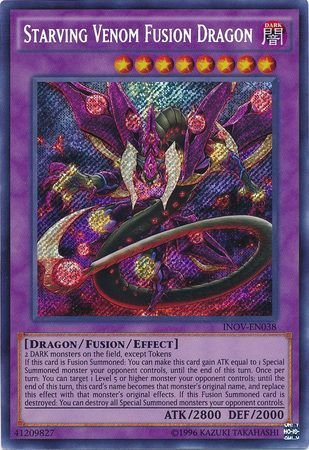 Starving Venom Fusion Dragon - INOV-EN038 - Secret Rare - Unlimited Edition - Invasion: Vengeance (Unlimited Edition)