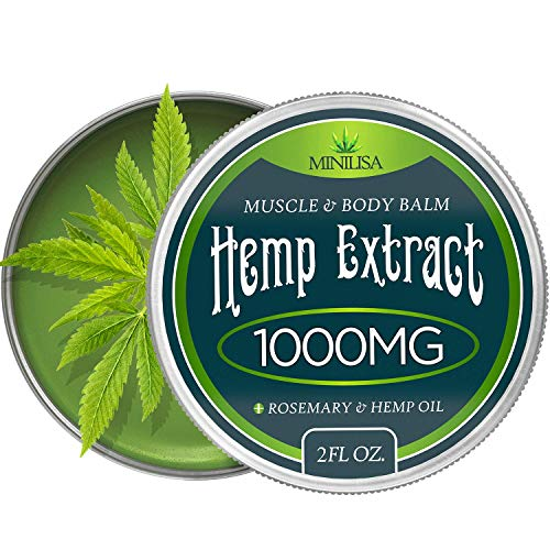 Muscle Pain Inflammation (Premium Hemp Balm - Ultra Strong Natural Pain Relief - 1000mg Hemp Extract - Rosemary & Hemp Oil - Anti-Inflammatory for Joint & Muscle, Arthritis Pain - Fast Acting Hemp Salve - Made in USA - Non-GMO)