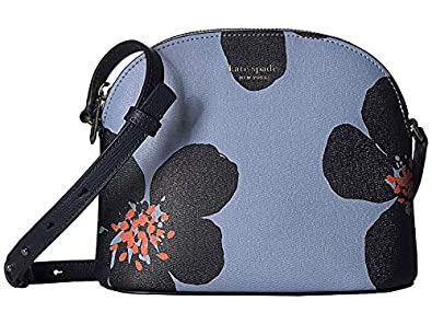 6b259c320a54 Amazon.com: Kate Spade New York Women's Sylvia Grand Flora Medium Dome  Crossbody Blue Heron Multi One Size: Shoes