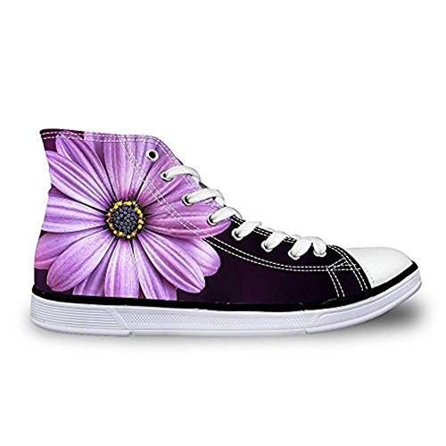 HUGS IDEA Fashion Floral Canvas High Top Sneakers For Women Girls Floral 14