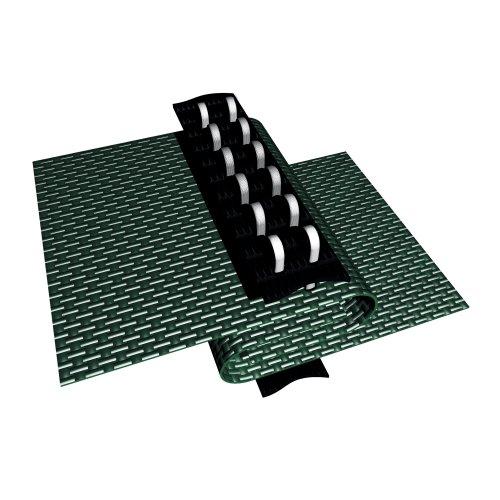 شراء Blue Wave 18-ft x 36-ft Rectangular In Ground Pool Safety Cover w/ 4-ft x 8-ft Center Step - Green