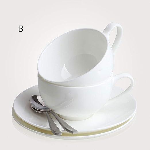 GJZhuan Juego de Taza y platillo de café de China de Hueso ...