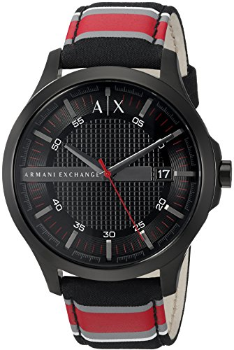 Armani Exchange Men's AX2197 Red and Black Fabric Watch