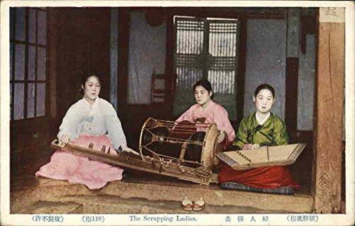 Originals Postmark (The scrapping ladies Musicians - China Postmark Other Countries Korea Original Vintage Postcard)
