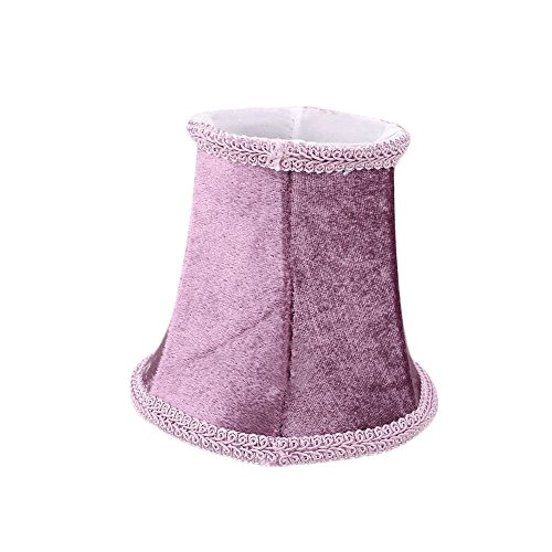 Hanbaili European Vintage Style Lamp Shade For Wall Sconce Chandelier Candle Crystal Lamp(Purple)
