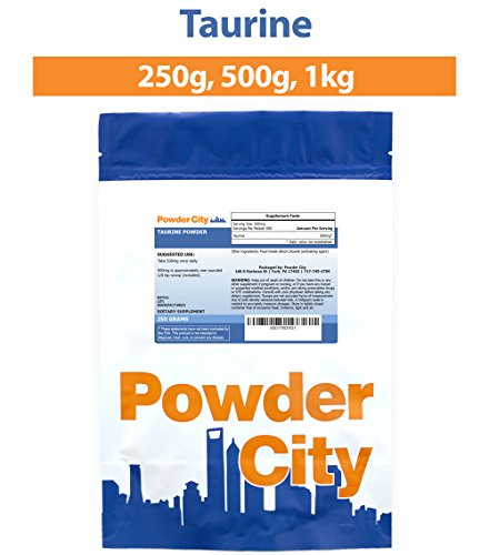 Powder City Taurine Supplement Powder (500 Grams)