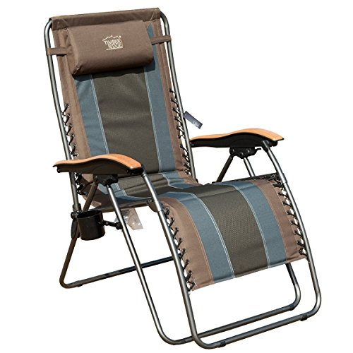 Timber Ridge Zero Gravity Patio Lounger Chair Oversize XL Padded Adjustable Recliner with Headrest Support 350lbs (Chairs Gravity)