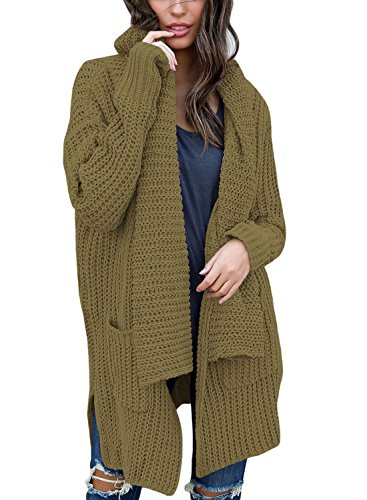 Woman Casual Woman Knit Cardigan Coat (Green) - 3