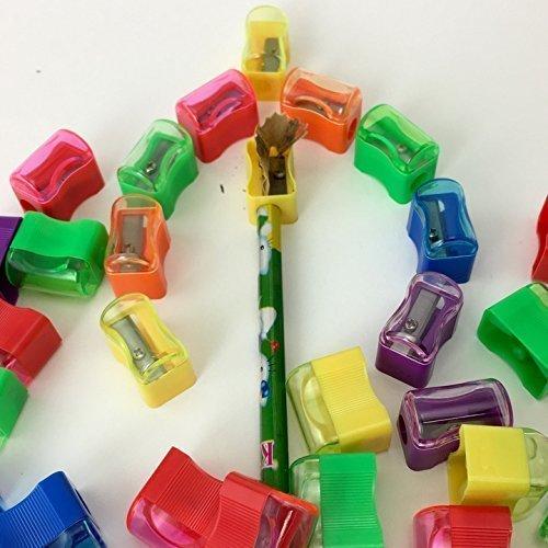 Adorox (Assorted (72 Sharpeners)) Bulk Miniature Plastic Pencil Sharpener Colors Assortment School Classroom