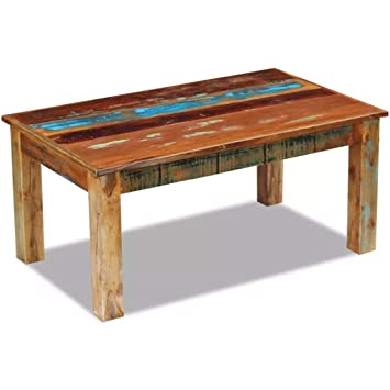 Amazon Com Saideke Home Rustic Coffee Table Solid Reclaimed