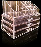 Oi LabelsTM Clear Acrylic Make-Up / Cosmetic / Jewellery / Nail Polish Organiser Display Stand (with high grade 3mm acrylic). Gift Boxed Bild 2