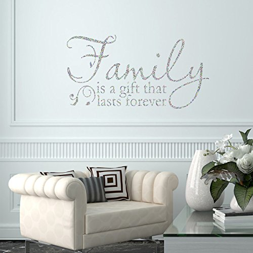 Merveilleux Vu0026C Designs Ltd Family Is A Gift Glitter Sparkle Quote Home Lounge Living  Room Hallway Bedroom