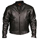 Leather Motorcycle Jacket (Black, Size 48)
