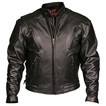 Hot Leathers - Chaqueta para motocicleta, color negro ...