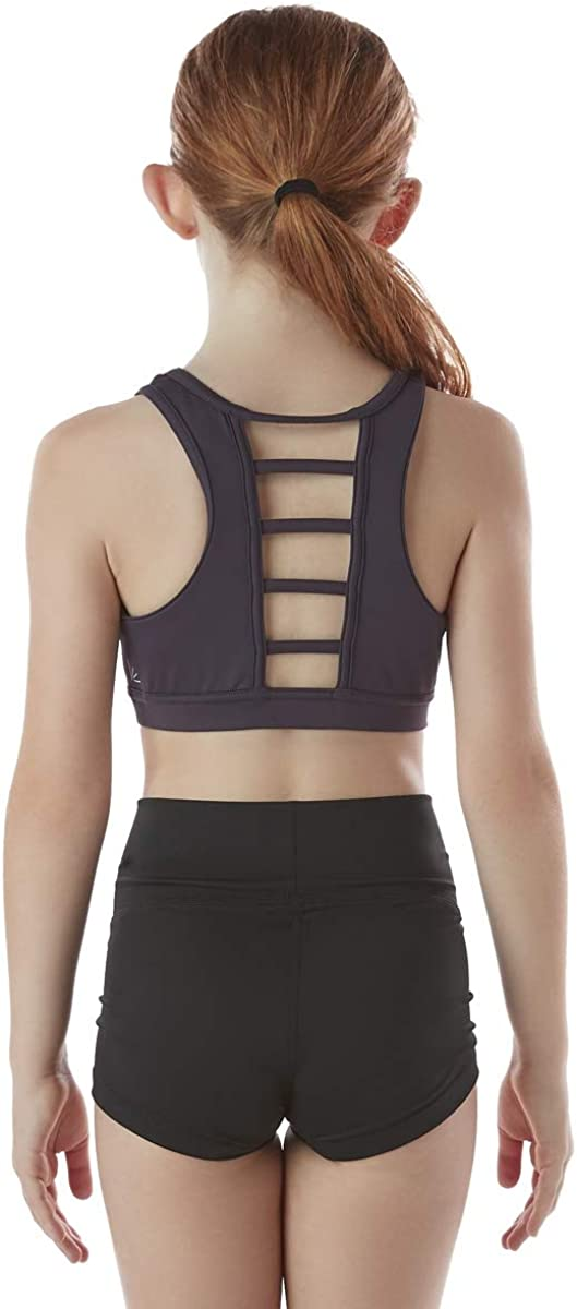 Cheer! Liakada Girls Ascent Stylish /& Supportive Sports Bra with Wide Shoulder Straps Dance Yoga Gym