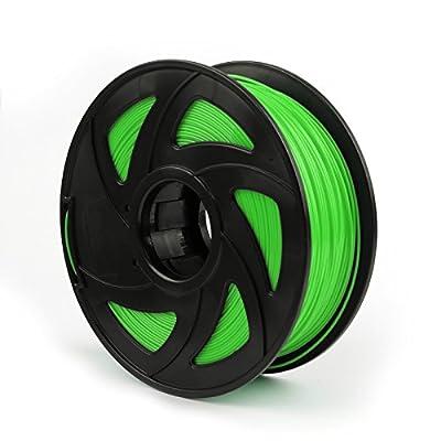 3D Printer Filament 1.75mm PLA 1kg/2.2lb for RepRap MarkerBot Fluo Green, Bruce & Shark