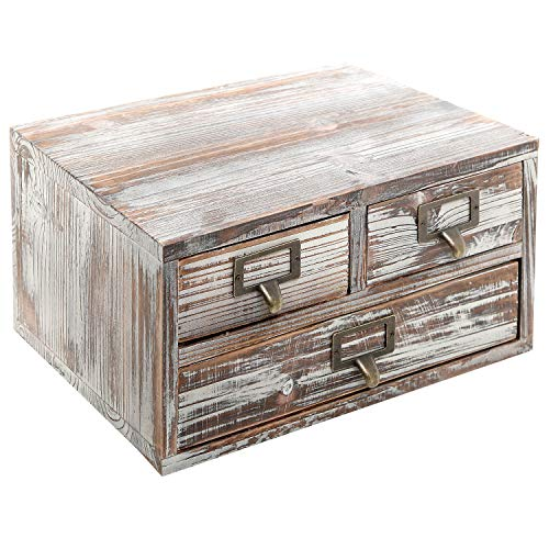 MyGift Rustic Torched Finish Wood Office Storage Cabinet/Jew