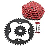 Red O-Ring Chain & Black Sprocket fits 1999-2004 Honda 400EX TRX400EX 15/38 94L