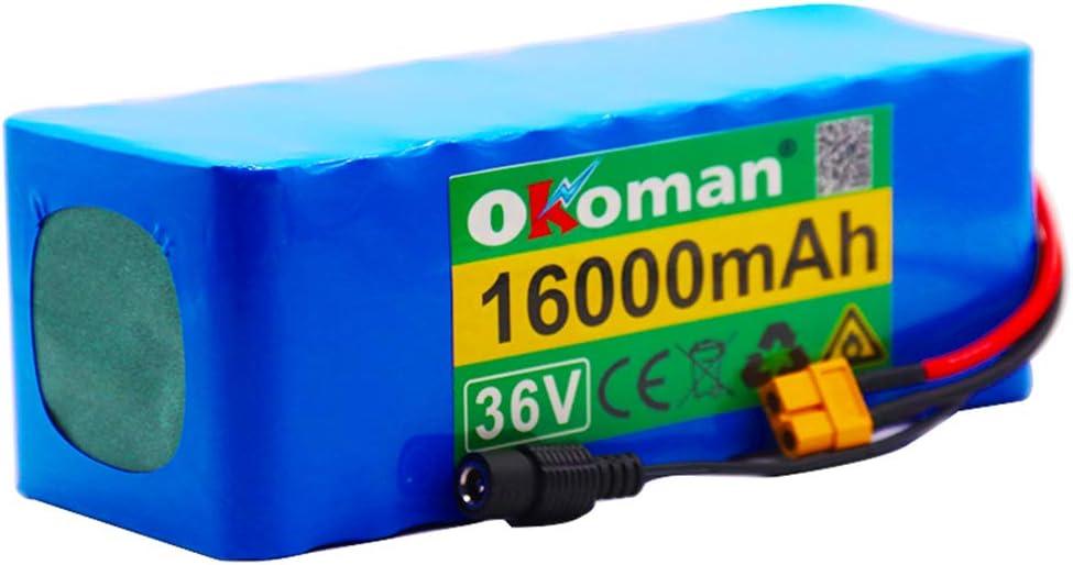 Batterie De V/élo /électrique 36v Batterie Au Lithium-ION 10s4p 16ah 500w Hohe Kapazit/ät 42v 18650 Lithium-Batterie Pack 16000mah Elektrische Fahrrad Roller Mit BMS Xt60 Stecker Ladeger/ät