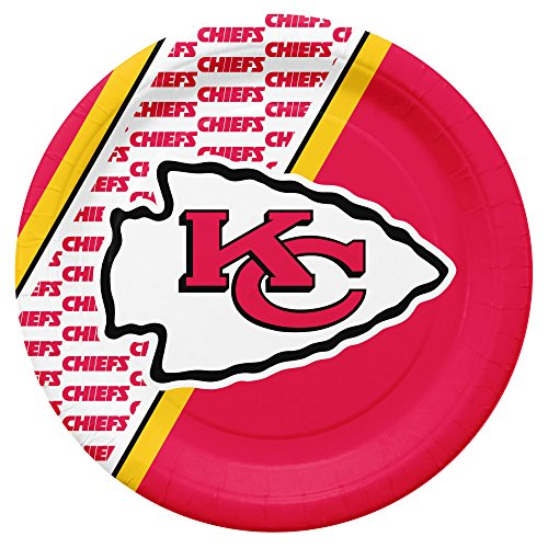 NFL Kansas City Chiefs Disposable Paper Plates, Pack of 20]()