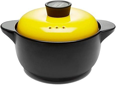 Cacerola Negra Cerámica Alta Temperatura Gran Capacidad