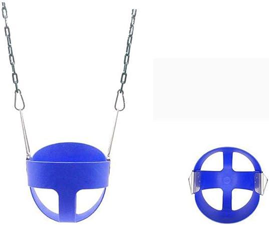Columpio para Niños Plastico Bebé Asiento Asiento De para Colgar del árbol De Jardín De Exterior Y Interior con Cuerda Ajustable,Blue: Amazon.es: Hogar