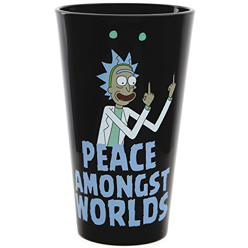 Rick and Morty Exclusive Pint Glass - Peace Among Worlds
