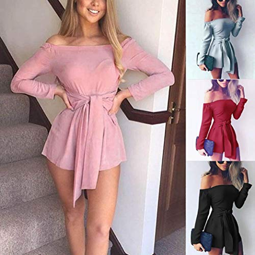 Playsuit Jumpsuit Siamesi Alta Donna Estive Oyedens Party Jumpsuit Ufficio Business Larghi Cocktail Saldi Playsuit Lunghi Vita Pantaloni Rompers Overall Rosa Donna Casual Festa Elegante per Tuta Stampato naIIZOAv