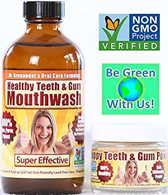 Happy Teeth & Gum Kit -- Dental Care, Gum Disease, Gum Recession, Plaque Build-up, Toothache, Gum Surgery, Oral Hygiene, Bad Breath, Gingivitis, Helps Comfort Root Canals, Safe Whitening Power, Helps Bleeding Gums, Gum Sensitivity & Inflammation by Anti-A