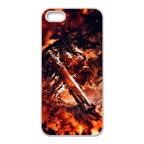 Metal Gear Rising L4X28 Revengeance W8L8GW coque iPhone 5 5s cellulaire cas de téléphone couvercle coque blanche WU1FVE7XU