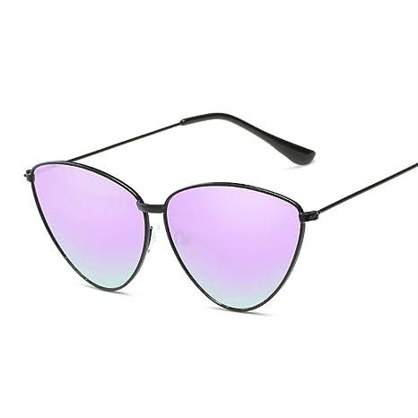 Tchin Gafas de Sol con Forma de triángulo de Metal Gafas de ...