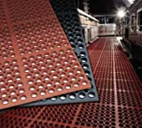 Cactus Mat 2520-C1 Rubber VIP Deluxe Heavy Duty Anti-Fatigue and Anti-Slip, 58.5'' X39'', Black