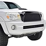 2006 toyota tacoma grill - E-Autogrilles Glossy Black ABS Replacement Mesh Grille Grill With Shell for 05-11 Toyota Tacoma (41-0122B)