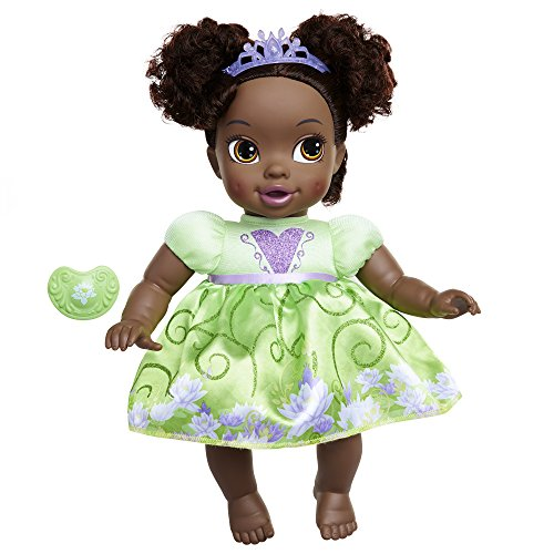 Disney Princess Deluxe Baby Tiana Doll with Pacifier Baby Doll Toy ()