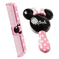Juego de cepillo para el cabello y peine ancho de Disney Baby Minnie