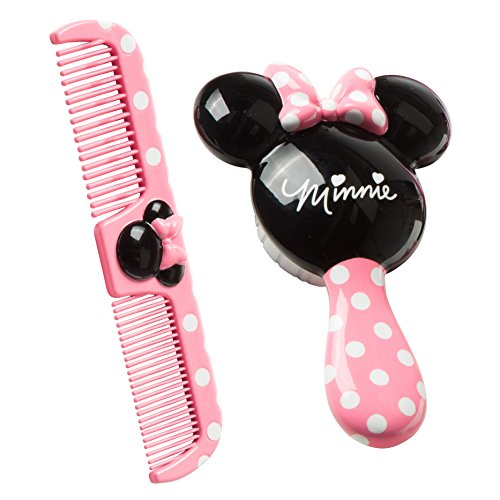 Disney Baby Minnie Hair Brush and Wide Tooth Comb Set (Disney Shoes Baby Size 5)