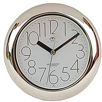 Amazon Com Telesonic Water Resistant Wall Clock With