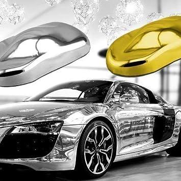 TipTopCarbon 7,89/€//m/² Chrom Autofolie Silber 1m x 1,52m Auto Folie BLASENFREI mit Luftkan/älen 3D Flex