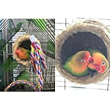 Vanki Snuggle Bird Hammock Hanging Snuggle Cave Happy Hut Bird Parrot Hideaway 1pcs
