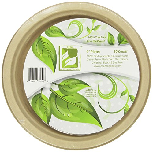 Brown Paper Plates - Earth's Natural Alternative Eco-Friendly, Natural Compostable Plant Fiber 9