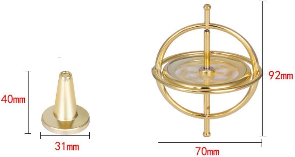 LAARNT 72mm Jouet de toupie Cool en m/étal dans Bout du Doigt,Jouet de Gyroscope cr/éatif en Alliage pour Soulager Le Stress
