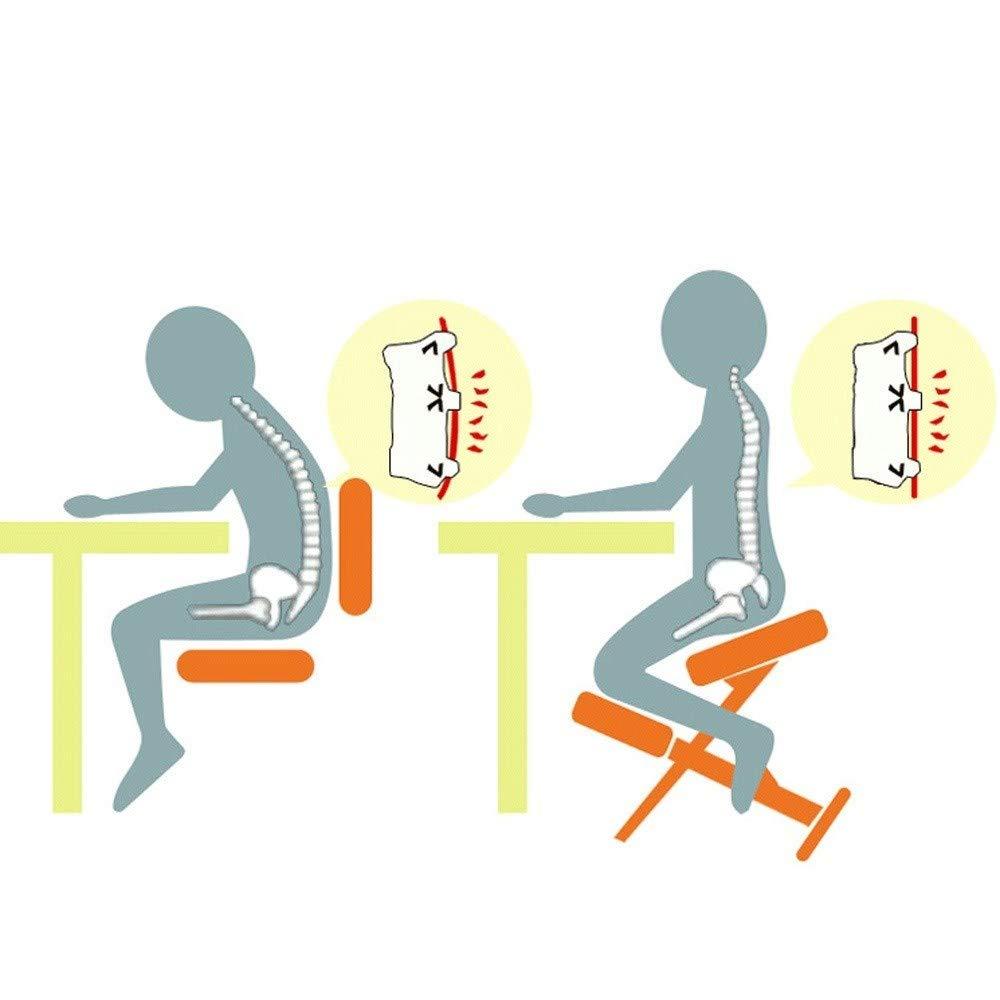 YOUDAN Ergonomiskt designad knästol med korrigerande sittande studentstol anti-puckel ryggstol vuxen midjestol kontorsstol, A a