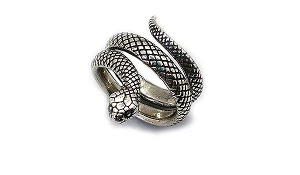 adjustable size Snake silver ring